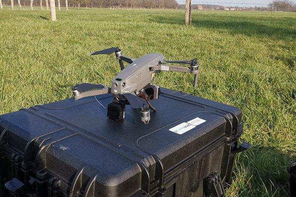 Die Drohne vor dem Einsatz (© ABU)